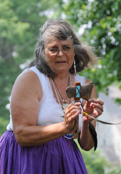 Dona Greene telling animal wisdom stories.