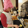 Making corn fritter thingies.
