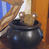 A little mousy hiding in a Hogwarts cauldron