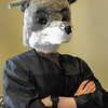 John Bores made his own fox mask.