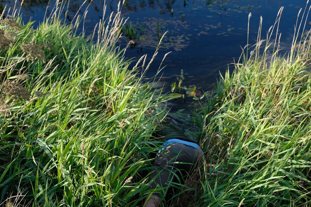 Behöver vatten, tur att vassen hade ganska fast mark