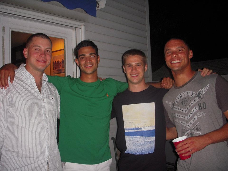 Gary joins the group -- Holden, Nick & Gary were roommates all 4 years