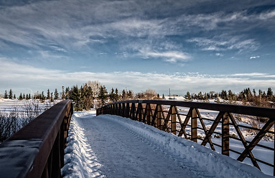 Muskoseepi Park, Grande Prairie....cool trails on a cold winter day