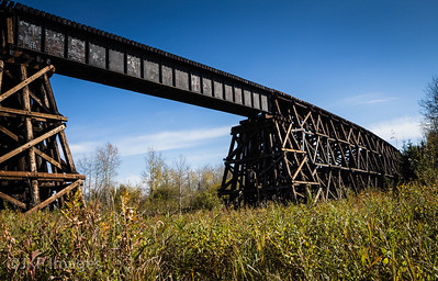 Wooden Train Bridge, near Mayerthorpe, AB