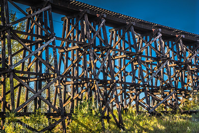Wooden Train Bridge, near Mayerthorpe, AB