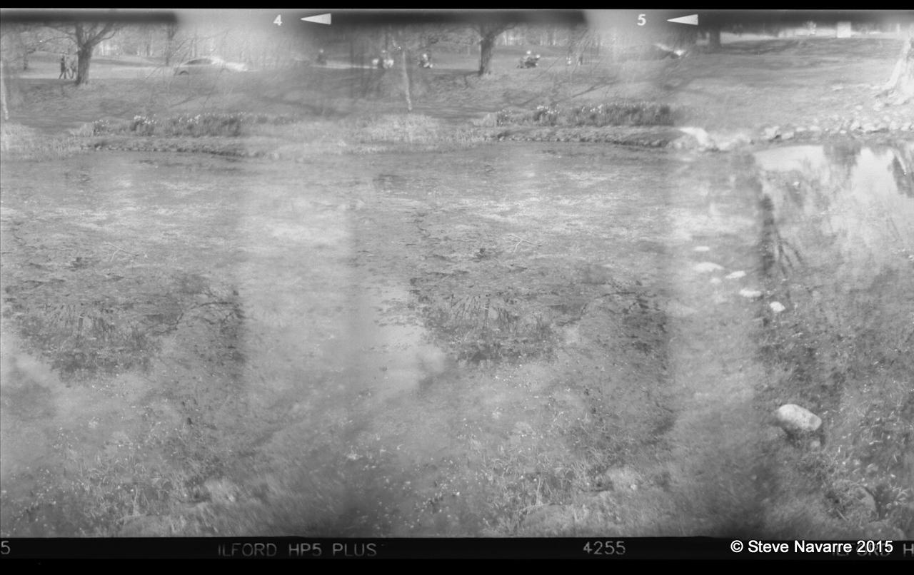 Pond in Sebelius Monument Park raw scan