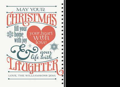 Christmas Laughter Front 5 x 7