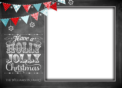 Chalkboard Holly Jolly Front