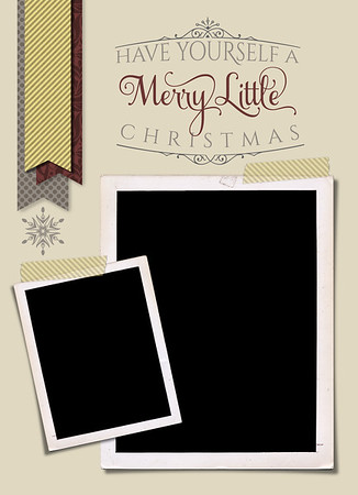Merry Little Christmas Front 5 x 7