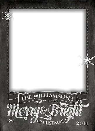 Chalkboard Merry and Bright Front 5 x 7