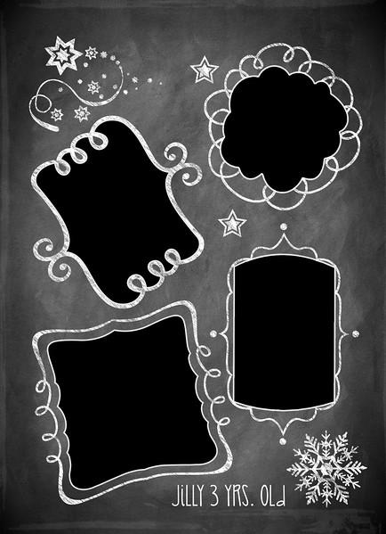 Chalkboard Doodle 5 x 7 back