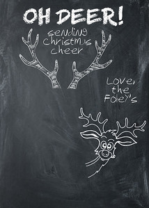 Chalkboard Oh Deer 5 x 7 One Sided