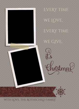 Merry Little Christmas Back 5 x 7