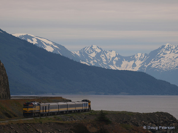 Alaska Railroad going to Seward