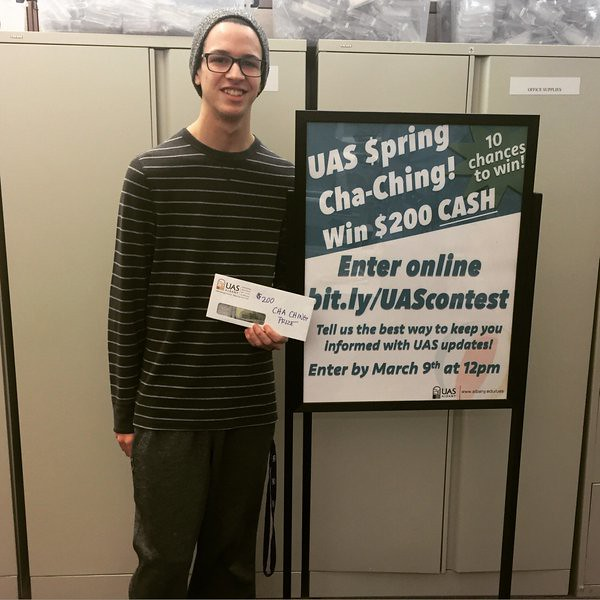 Spring Cha-Ching winner Daniel