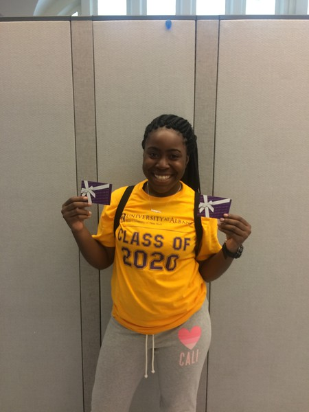 Mia Darby- Class of 2020 summer orientation texting contest winner