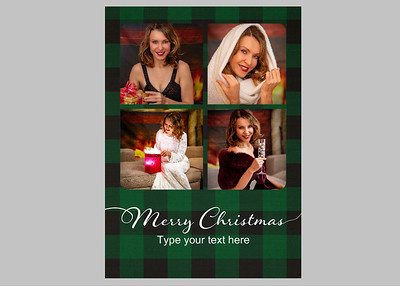Basic One Green Plaid Text 3 Front
