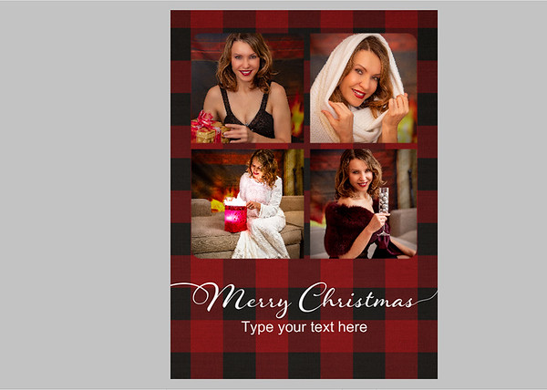 Basic One Red Plaid Text 3 Front