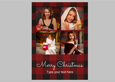 Basic One Red Plaid Text 2 Front