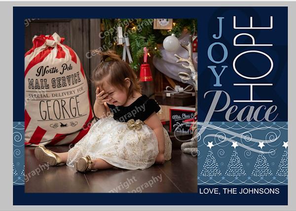Joy Hope Peace Blue Front