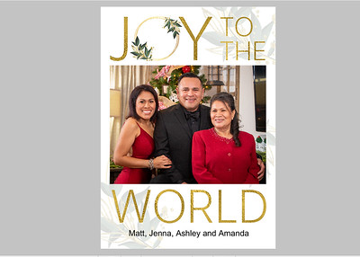 Joy to the World Gold Front