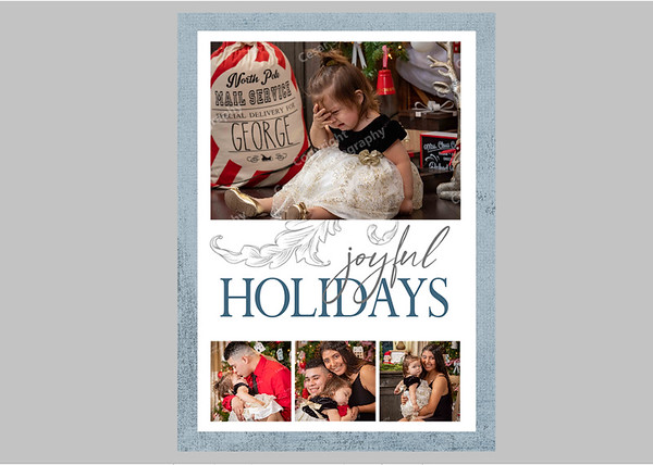 Joyful Holidays Blue Front