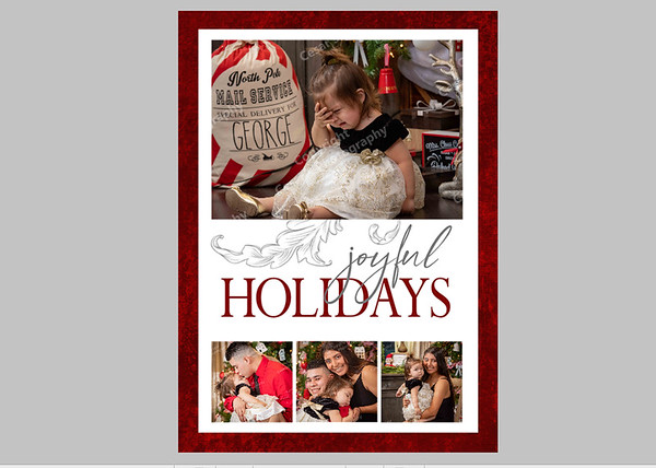 Joyful Holidays Red Front