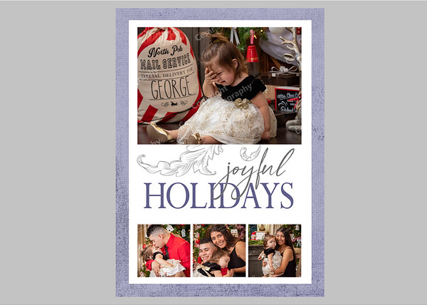 Joyful Holidays Purple Front