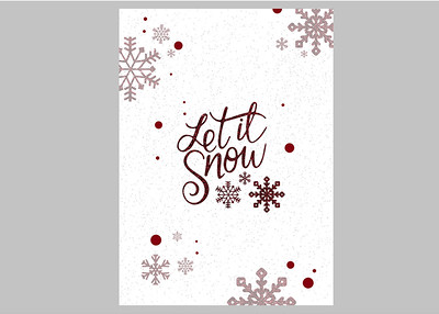 Let it Snow Red Front