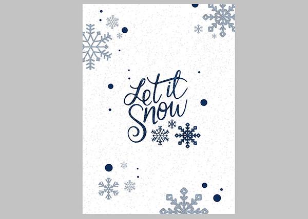 Let it Snow Blue Front