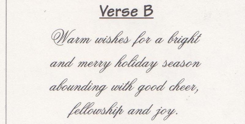 Verse B