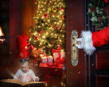 Santa and book2
