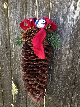 Pine Cone - Decorated Hanging Large Sugar Pine Cone. Our #1 Seller!