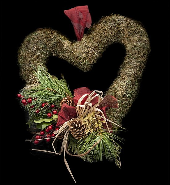 Wreath Heart Decorated