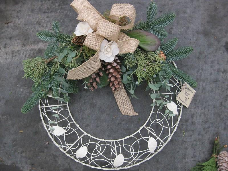 Wreath Shabby Chic White