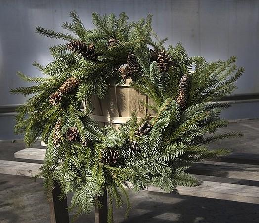 Wreath Round Evergreen