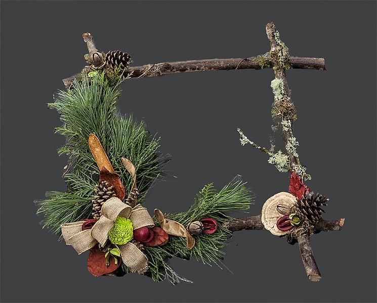 Wreath Twig Decorated