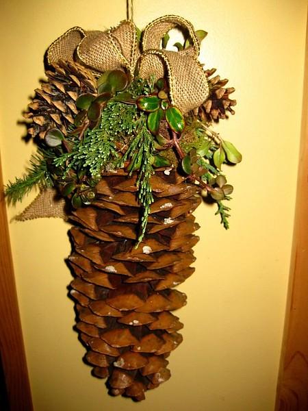 Decorated Sugar Pine Cones
