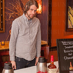 Brian Reese of Maker\'s Mark serving La Chasse\'s cocktail.