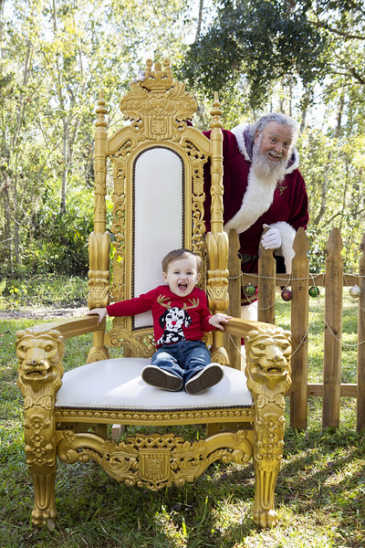 Santa Mini Sessions 2017: Caleb, Levi, and Santa!