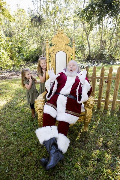 Santa Mini Sessions 2017: Kylee, Madi, and Santa!