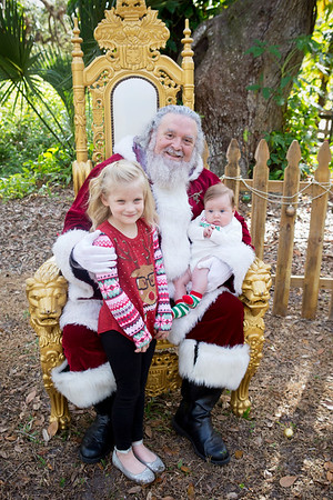 Santa Mini Sessions 2017: Marley, Penelope, and Santa!