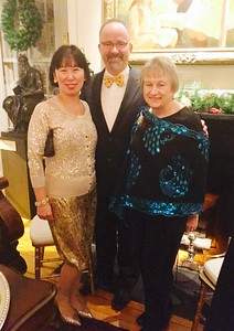 Board member Carrie Meikle with husband Dr. Eric Meikle of Chelmsford, volunteer Elaine Pantano of Lowell