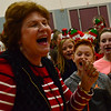 "KRISTOPHER RADDER - BRATTLEBORO REFORMER<br /> Rita Corey, musical directory for the Dummerston School, leads the group in rehearsals for  ""Holiday Heroes"" on Tuesday, Dec. 5, 2017."