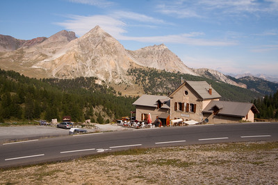 """one of several hundred thousand """"Napoleon was here"""" taverns - here on Col d'Izoard"""