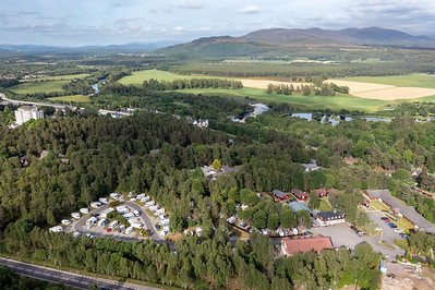 exterior architectural photography of High Range Holiday Complex, Aviemore