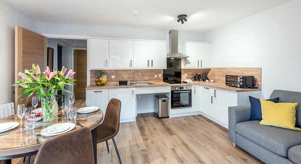 Interior architectural photography of High Range Holiday Complex, Aviemore