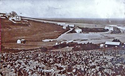 View of Polzeath Beach before mass tourism