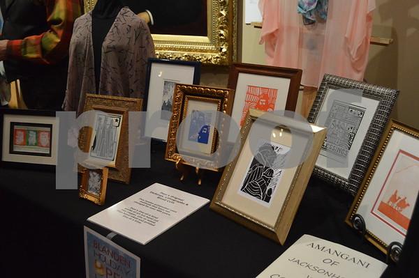 Shown are original framed pressings by Pam Sanders of Pam's Prints N Silks.