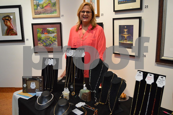 Cary Estlund of Kirkberg Connections displayed some of her unique and beautiful jewelry pieces.